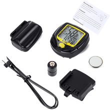 Wireless Cycling Computer Waterproof Bicycle Odometer Speedometer With LCD Display Bike Speedometer Cycling Bicycle Stopwatch