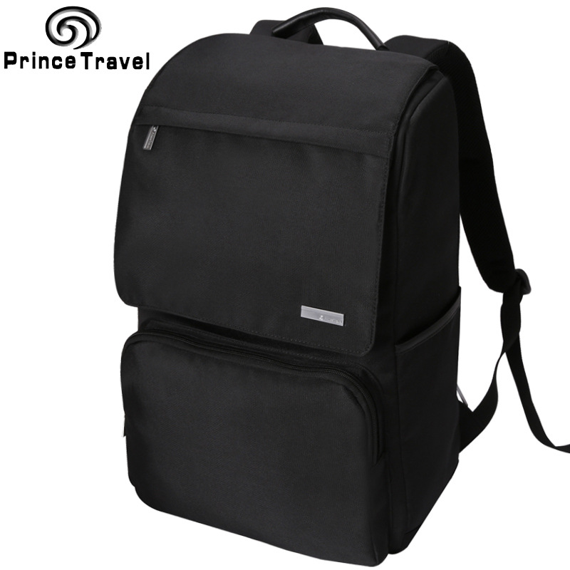 Black Oxford 15inch Laptop Backpack Mens Business Computer Bag College Student Large Capacity Multifunctional Travelling Bag<br>