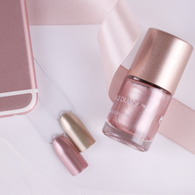 NICOLE DIARY Metallic Gold Nail Polish Light Pink Mirror Effect Metal Color Manicure Nail Art Varnish