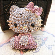 6pcs/lot Cell Phone Case DIY Charms Alloy Hello Kitty Cat Decoration With Free Shipping(China)