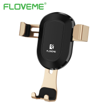 FLOVEME Gravity Air Vent Car Phone Holder For iPhone 8 X ABS + Mental Automatic Lock For Mobile Phones Car Holder Stand Bracket(China)