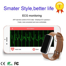 2017 fashion ECG date monitoring smart bracelet with app heart rate monitoring good for lady best wristband gift for girlfriend