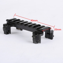 AluminumTactical fit 20mm Picatinny Weaver Scope Rail Mount Base Claw for MP5 G3 Series Airsoft Gun Hunting Mounts with Wrench(China)