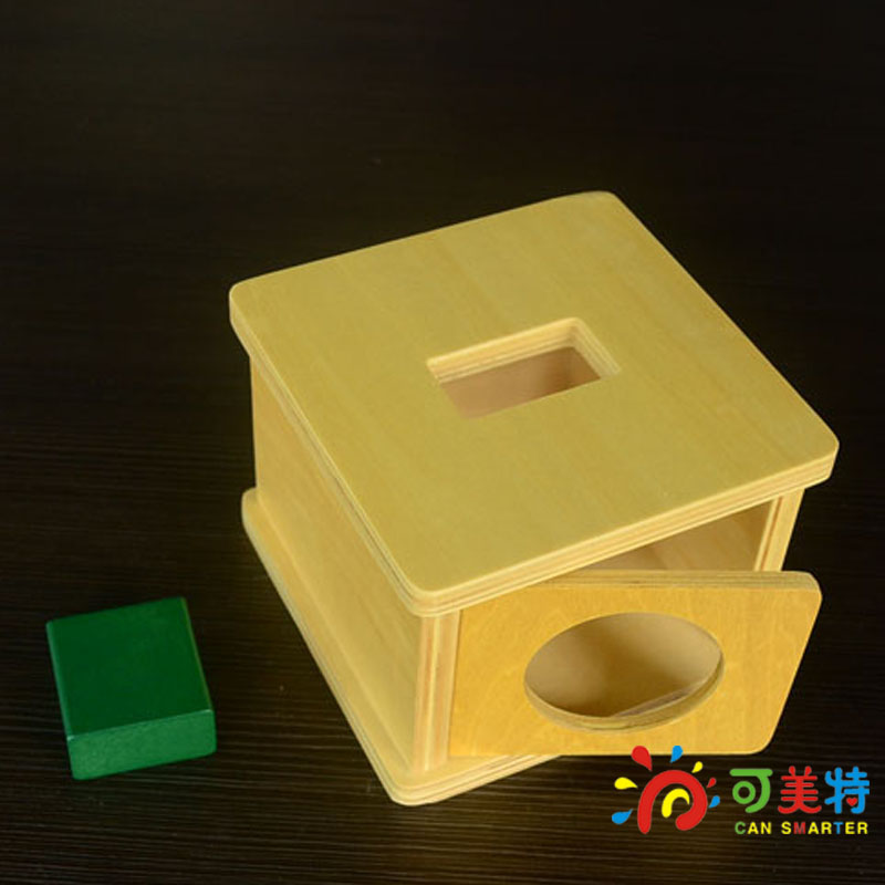 Montessori Education Cuboid Block Beech Wood Box Sensory  toys Early educational toys Can Smarter Free Shipping<br>