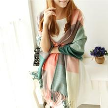 Scarf Women Winter Cachecol Women European And American Style !2017 Winter Light Fringe Scarves Long Shawl Tassel Cashmere Cg(China)