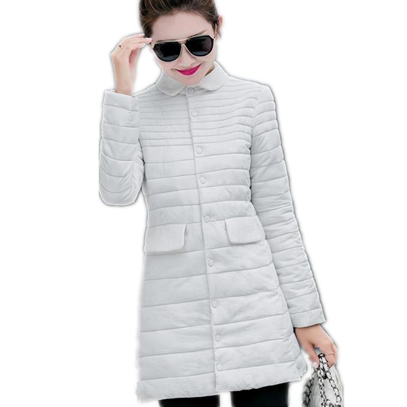 2017 New Women Down Cotton Thin&amp;Light Parkas Single Breasted Slim Women Winter Size L-4XL Five Colors Warm Outerwear Coat CQ183Îäåæäà è àêñåññóàðû<br><br>