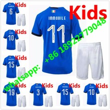 2018 World Cup Italy kids soccer Jersey 2018 PIRLO El Shaarawy Balotelli Verratti MARCHISIO Children football shirts