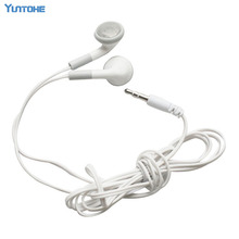 Wholesale White Cheapest Disposable Earphone for Party Museum Bus or Train or Plane as Company gift 100pcs/lot(China)