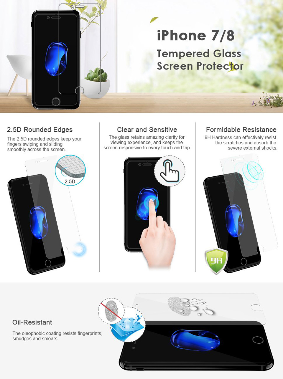 Screen Protector for iPhone 8 7