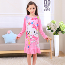 Buy Girls nightdress New 2017 Autumn Fashion Princess cartoon Dresses kids sleep Dress Cotton children nightgowns Clothes lovely for $5.70 in AliExpress store