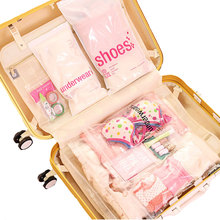 Actionclub Travel Storage Bags 23 PCS/Set Clothes Shoes Cosmetic Multifunction Organizer Bags Transparent Waterproof Travel Bag(China)