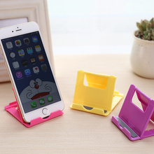 Foldable Mobile Phone Holder Portable Mini Phones Fixed Holder Debris Plastic Storage Rack Home Supplies