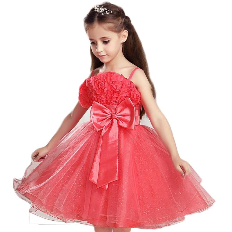 Buenos Ninos Children Girl Rose With Bow Sling Princess Dress<br><br>Aliexpress