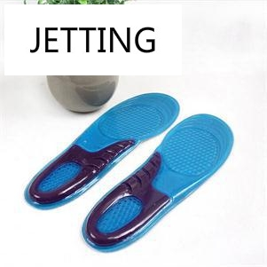 Feet Gel Insoles Inserts Men Athletic Shoes Cushion Football Sports Soles Shock Absorbing Silicone Gel Insoles