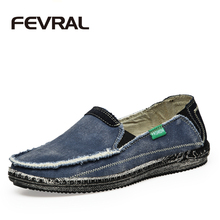 FEVRAL Brand New Arrival Low Price Mens Breathable High Quality Casual Shoes Jeans Canvas Casual Shoes Men Fashion Flats Loafer(China)