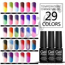 Verntion Gel Nail Polish 7ML Semi Permanent Polish Gel UV LED Thermo Temperature Changing Color Chameleon Nail Art(China)