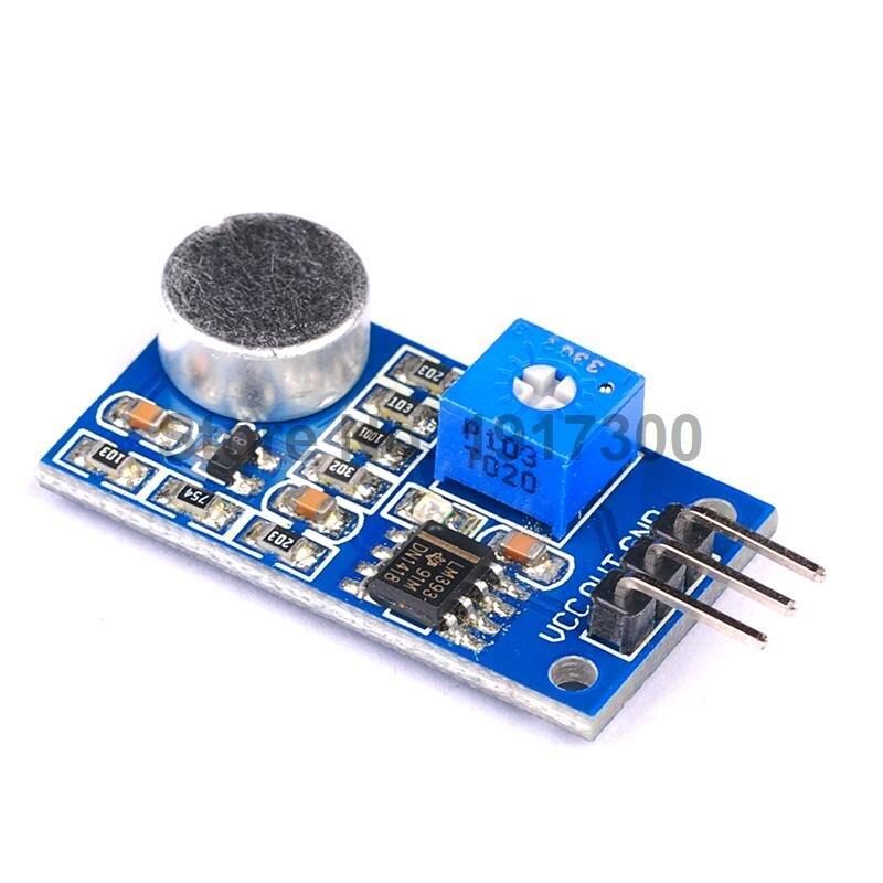 10PCS/LOT Microphone Sensor Noise Decibel Sound Module Interface For Arduino  <br><br>Aliexpress