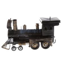 Classic Iron Black Vehicle Locomotive Precision Model for Gift Collection