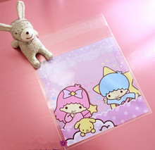 <100PCS/LOT>baby shower gift favor candy bags princess party supply souvenir bags adhesive