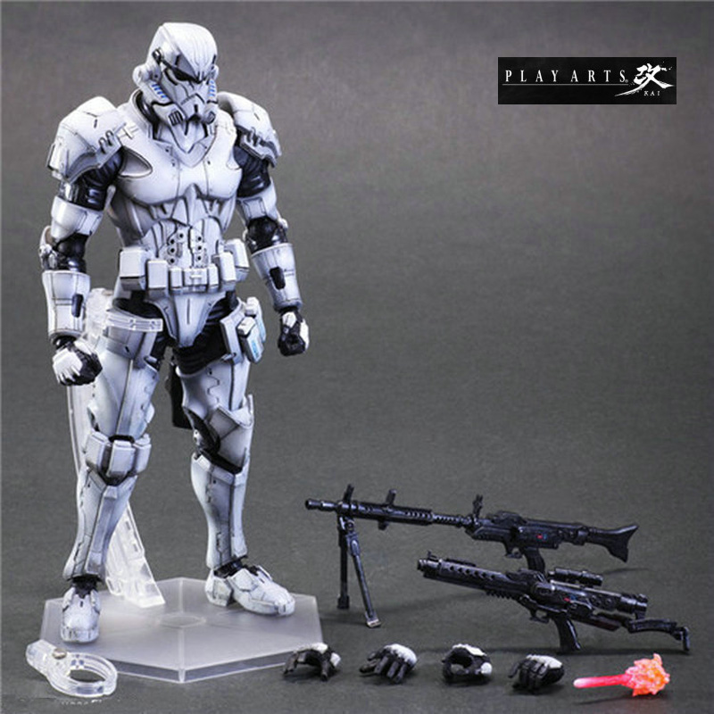 26cm Star Wars Toys Play Arts Stormtrooper Aciton Figures Playarts Movable Joints Figures Pvc Doll Kids Boys New Year Gifts<br><br>Aliexpress