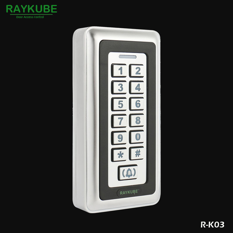 RAYKUBE Password Keypad RFID 125HKz Reader Metal Case For Door Access Control System R-K03<br>