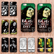 Jamaica Bob Marley design plastic case For Samsung Galaxy s3 s4 s5 s6 s7 edge phone cover for iphone 5s 5 5c SE 6 6s 7 plus 4 4s