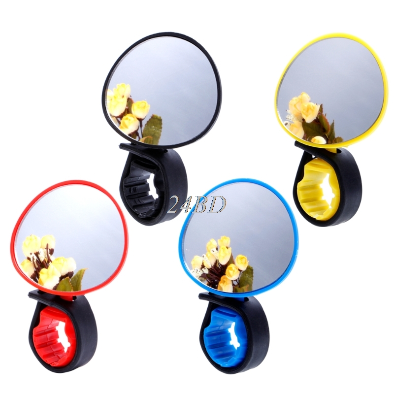 Universal 360 Degree Rotate Rearview Mirror Handlebar Glass Mirror Bicycle Cycling Bike Accessories M08