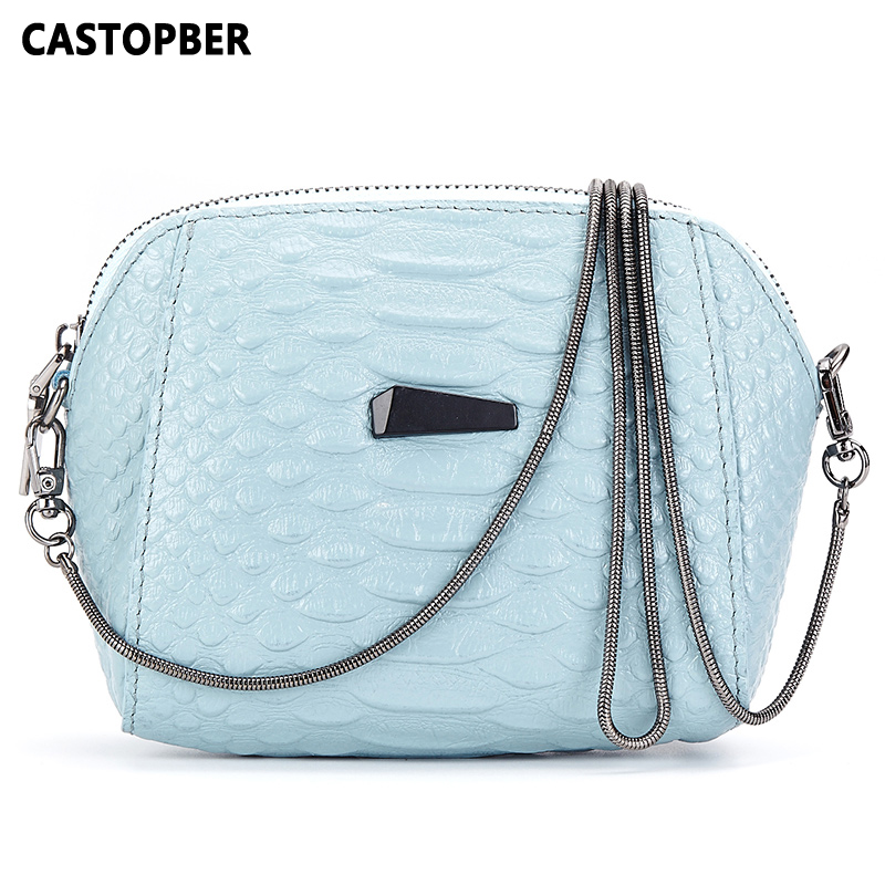 Designer Women Crocodile Pattern Handbag High Quality Fashion Messenger Bags Genuine Leather Cowhide Chain Crossbody Small Bag<br>