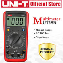 UNI-T UT39B Modern Digital Multimeters AC DC Cap Ohm Tester Data Hold Transistor Test Manual Range Free Shipping