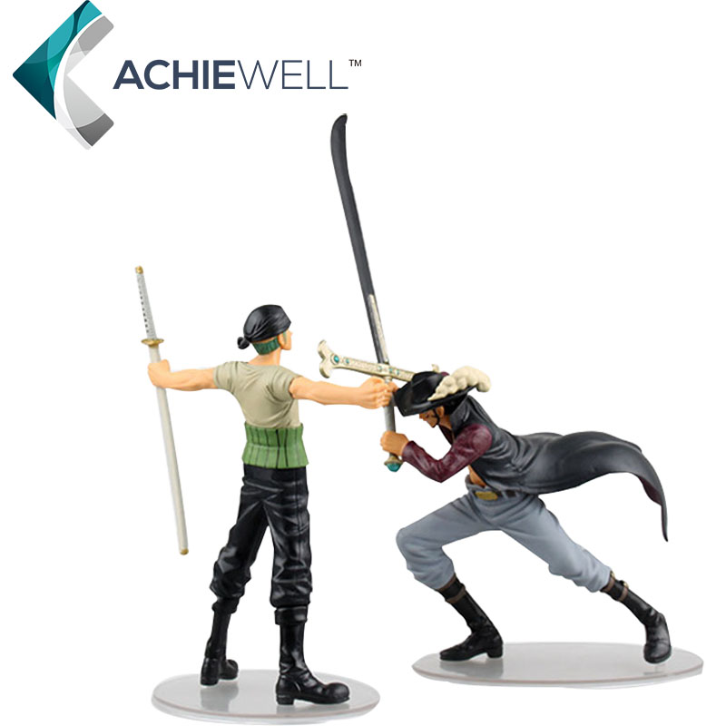 The One Piece Version Of The War Scene Sauron Hawkeye Swordsman Duel PVC Fan Collection Anime model Kid Gift Doll 2 pieces/set<br><br>Aliexpress