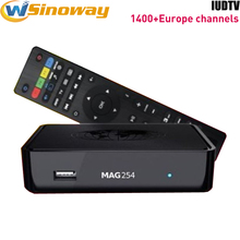 Streaming iptv box MAG 254 with iudtv ip tv account 1400+ Sweden Italia Germany UK france Albanian Indian arabic iptv europe
