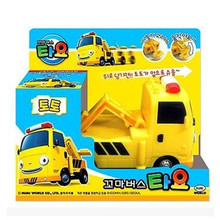 Tayo the little bus yellow tractor TOTO engineering truck kids toys model car tayo bus juguetes para ninos Construction vehicles(China)