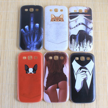 Animal Cute Dog Cases For Samsung Galaxy S2 SII I9100 S3 SIII I9300 Covers Silicon Soft TPU Shell For Samsung S2 S3 Phone Bags