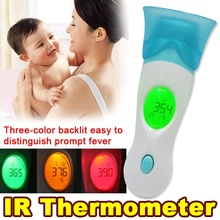 Multi-function Health Monitors 8 in 1 IR Infrared Thermometer Baby Adult Digital LCD Display Ear Forehead body thermometer gun