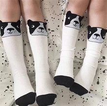 KIKIKIDS Boys Girls Dog Socks Tiny Cottons Baby Cute Middle Tube Socks Children Lovely Floor Tube Bobo Choses Kids High Knee(China)