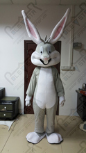 bugs bunny mascot costumes hot sale cartoon EVA head 3D face exact as pictures quality grey rabbit costumes