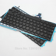 French Keyboard With Backlight For Apple Macbook Retina A1425 French Keyboard With Backlight Replacement  Keyboards 2012
