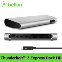 New Arrival Belkin Thunderbolt 3 Express Dock HD with Cable 40Gbps for New MacBook Pro with Retail Package Free Shipping F4U095(China)