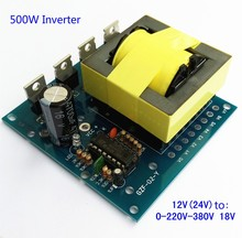 500W Inverter Boost Board Transformer Power DC 12V TO AC 220V 380V Car Converter(China)