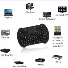 2.4G English Version Wireless Keyboard Touchpad Full Function Mini Keyboard  with Touch Mouse for PC Android TV BOX TV Dongle