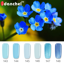 Danchel 12 Blue Color Gel Polish Sky Blue Series LED UV Nail Gel Lacquer Gel Varnish Gelpolish Vernis Primer Semi Permanent Glue