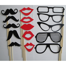 Buy Free Hotsale Photo Booth Props Moustache Lips Glasses Stick Party Birthday Wedding 15Pcs/set for $1.39 in AliExpress store