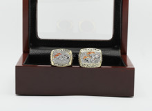 Free shipping 2pcs 1997 1998 Super Bowl DENVER BRONCOS replica championship copper rings Size 10-13 men ring with a box(China)