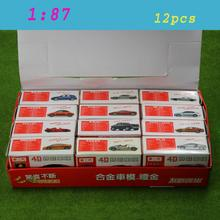 NEW 12 PCS 4D Model Cars Assembling Cars 1:87 HO Scale For Model Train Layout  C8720  railway modeling