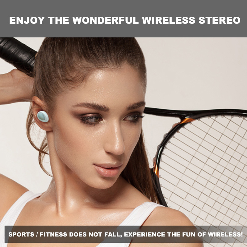 TWS K2 Bluetooth Headset Double Twins Dual Headphones Stereo Music Handsfree earphones with Charging Socket for iPhone Samsung