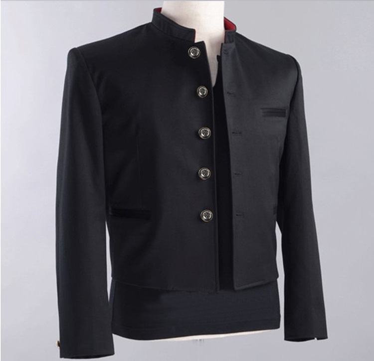 Free Shipping New colleges university Japanese school uniform male men's slim blazer chinese tunic suit jacket top man casual