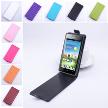 Fashion 9 colors Flip Leather Cover Case for Huawei Ascend G600 / Honor 2 U9508 U8950D Vertical Back Cover Open Up and Down