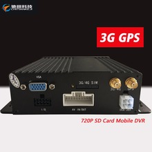 Mini Vehicle Security CCTV System 4CH Mobile DVR with 3G GPS Video Record Car Dvr MDVR