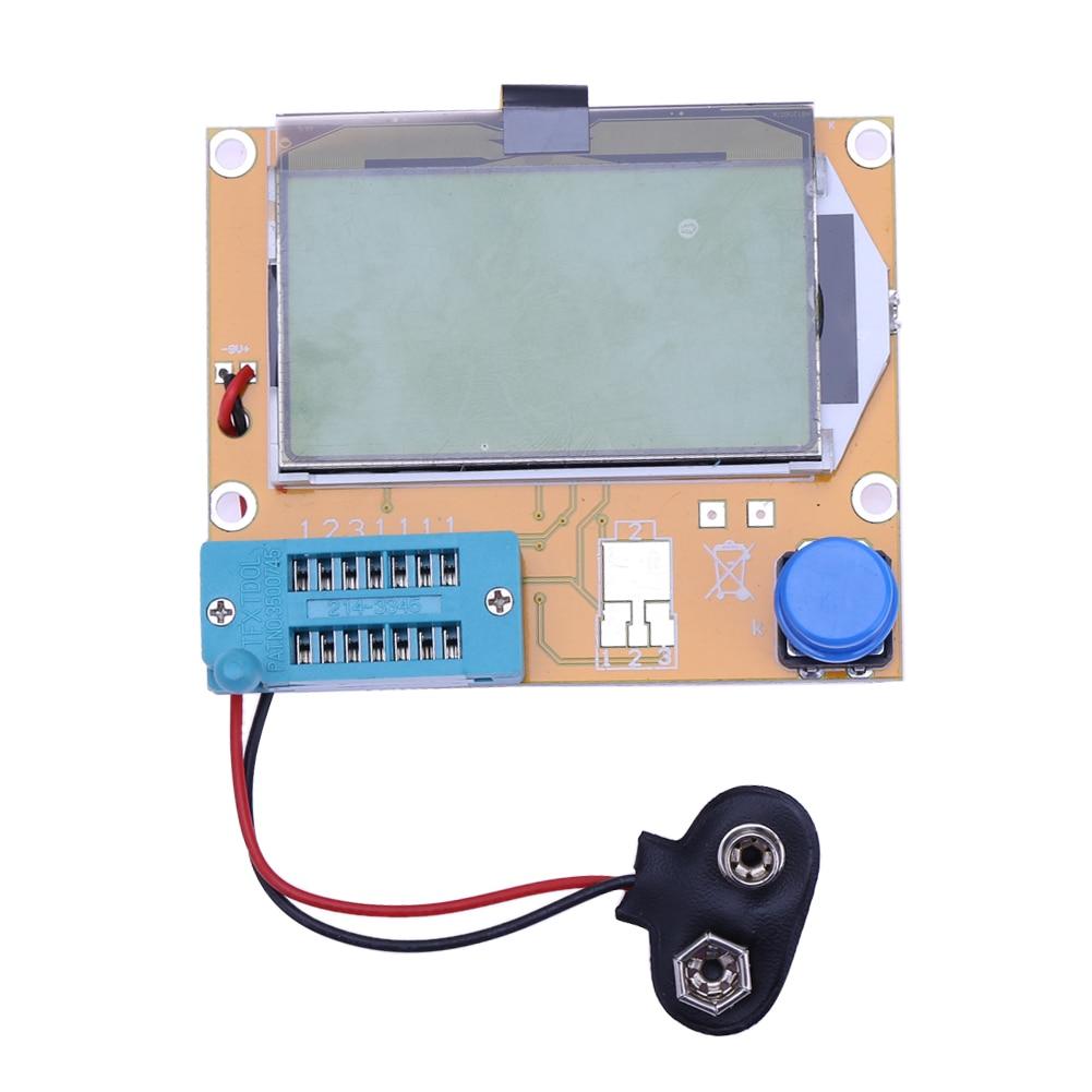 2X LCR T4 ESR Combo Digital Transistor Tester Diode Triode Capacitance indutor resistor MOS/PNP/NPN + Teste clipe 9