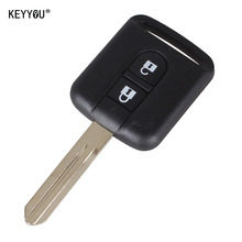 KEYYOU New Replacement Remote Car Key Shell Case Fob Keyless Entry 2 Button For Qashqai Nissan Micra Navara Almera Note